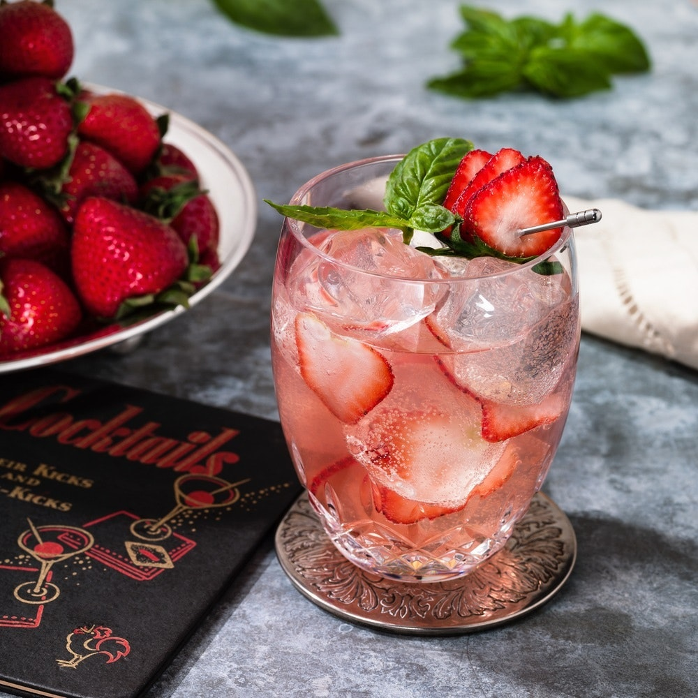 15 Strawberry Gin Rickey