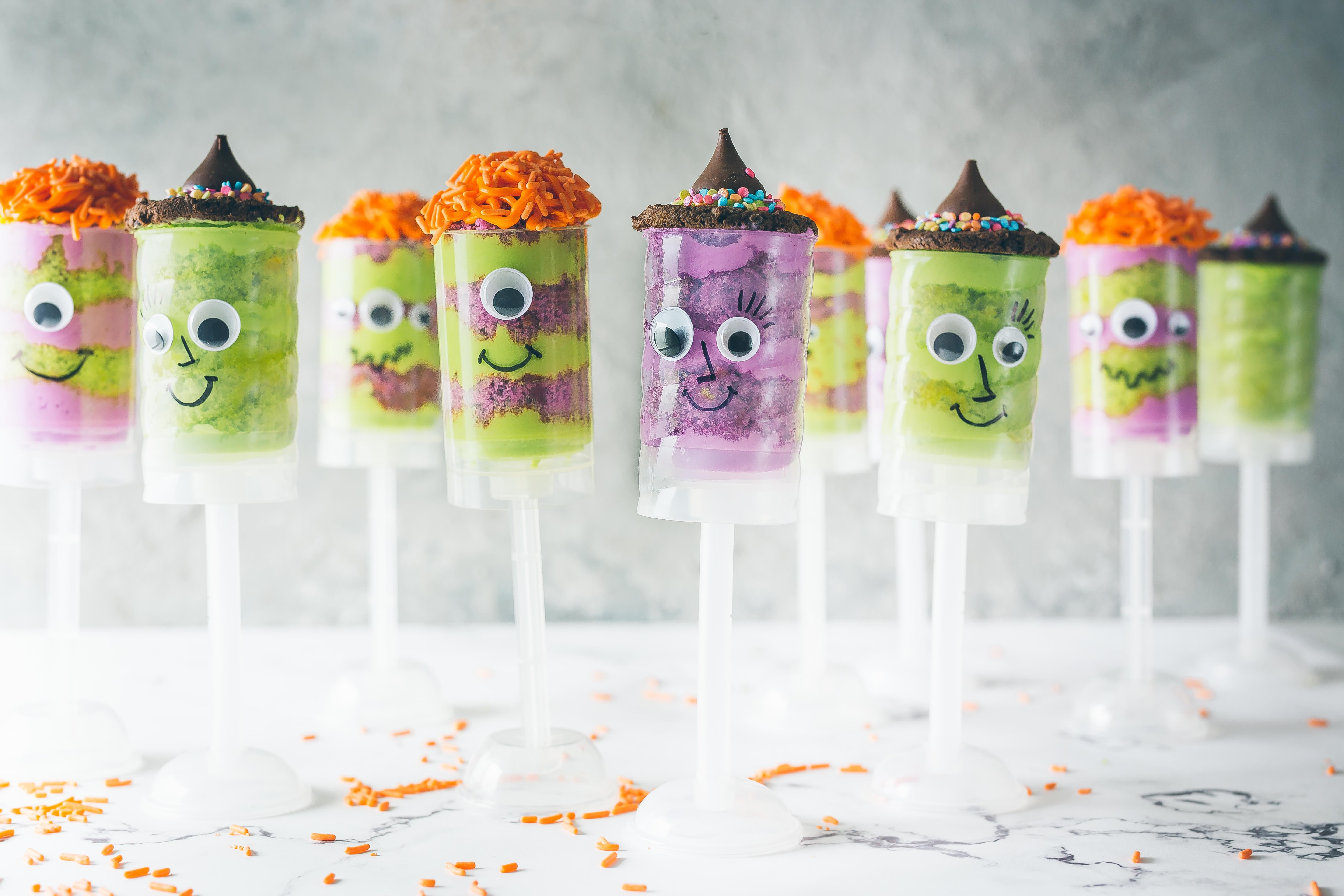 Halloween Cake Push Pops for Every Monster, Witch & Wizard