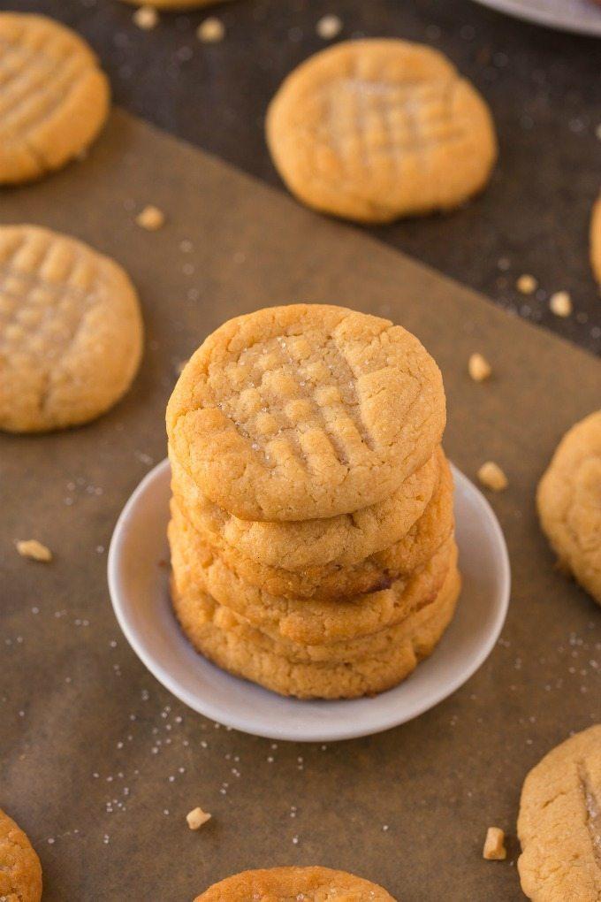 3 Ingredient Sugafree Flourless Peanutbutter Cookies Paleo Glutenfree 2