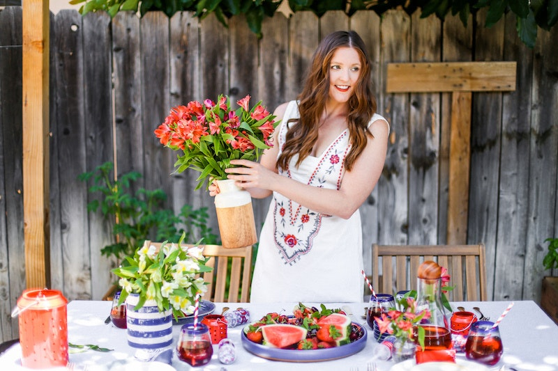 A Chic and Patriotic Fourth of July Table
