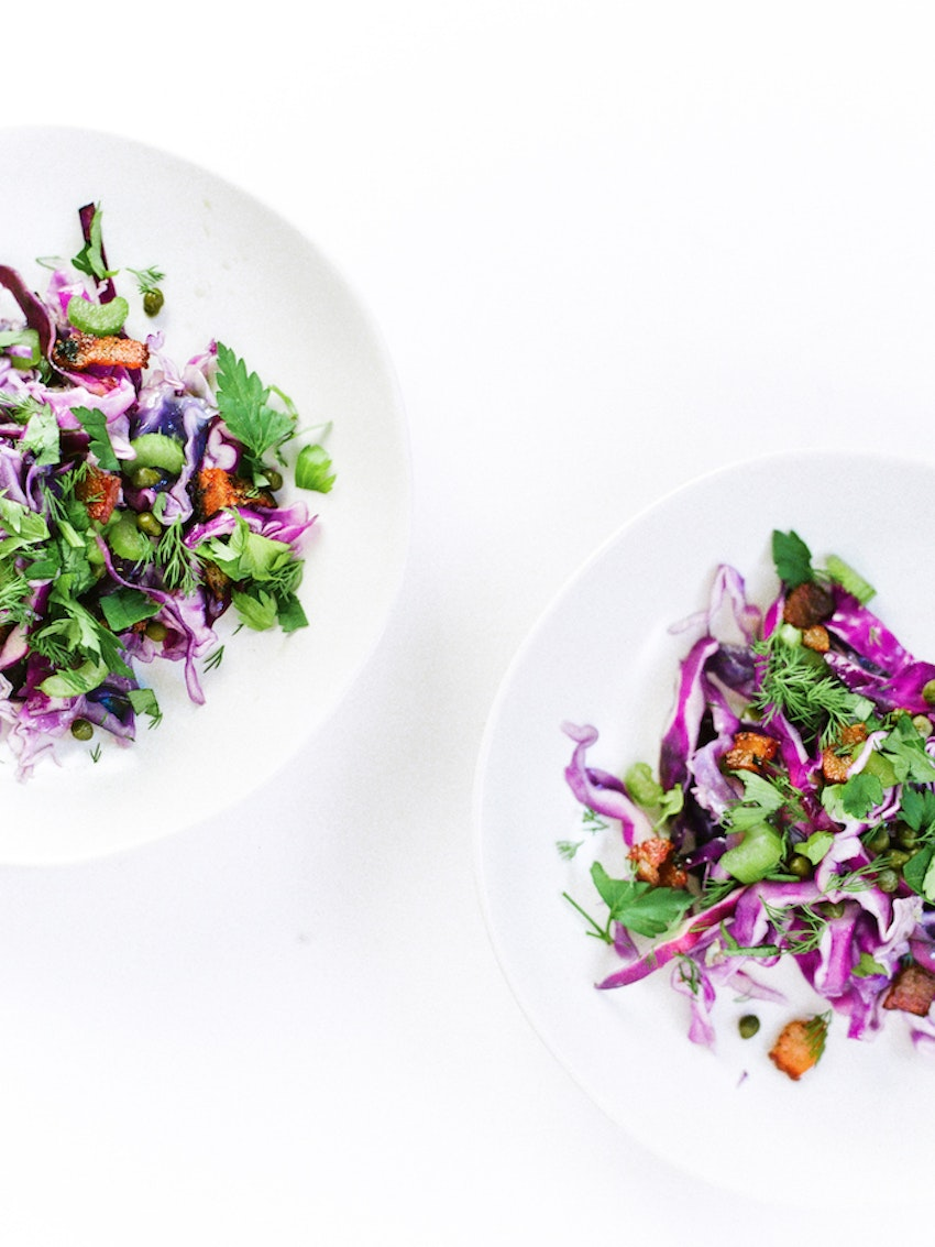 Pan-Roasted Cabbage Slaw