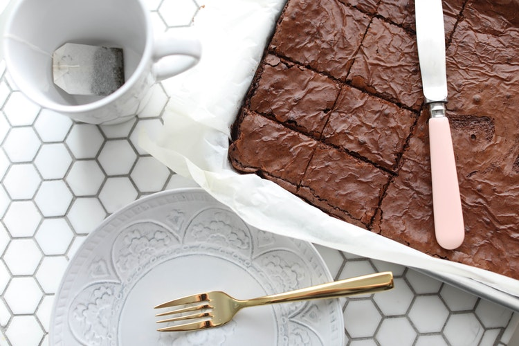 Homemade Dark Chocolate Brownies