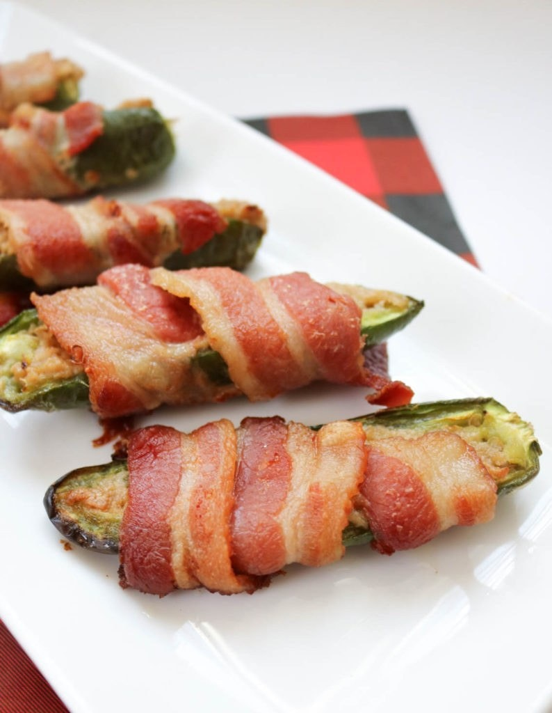 Bacon Wrapped Cashew Cheese Stuffed Jalapeno Peppers 794X1024