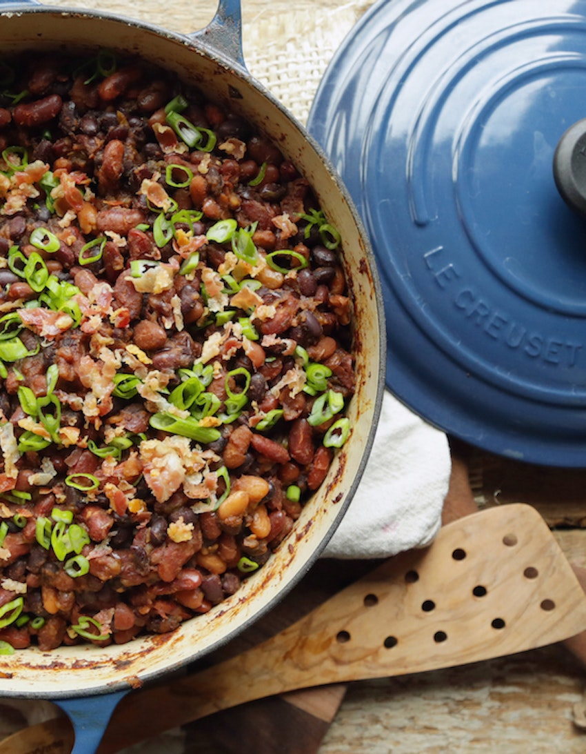 Baked Beans with Pancetta & Molasses