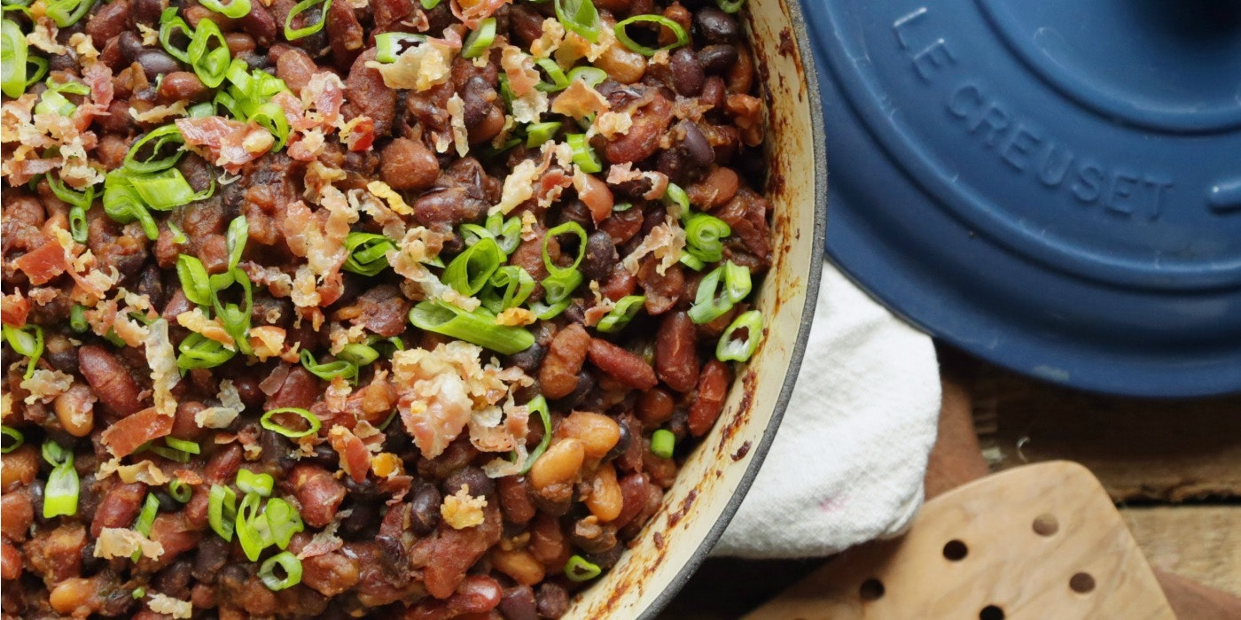 Baked Beans with Pancetta + Molasses