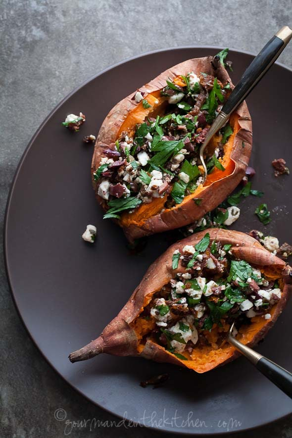 Baked Stuffed Sweet Potato Recipe From Gourmande In The Kitchen
