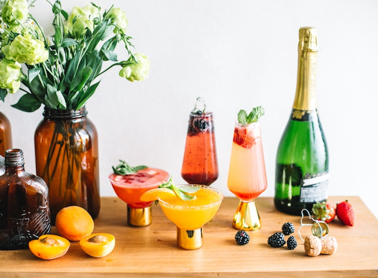 Amp Up Your Bellini Bar with These Herbal Fresh Fruit Purees