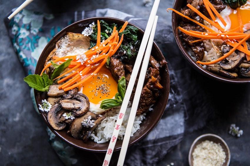 Bibimbap with Steak & Gochujang Recipe