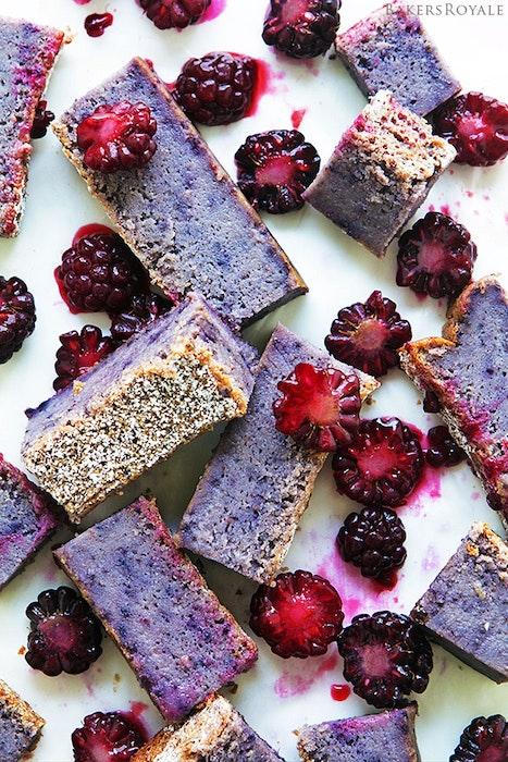 Blackberry Custard Cake From Bakers Royale