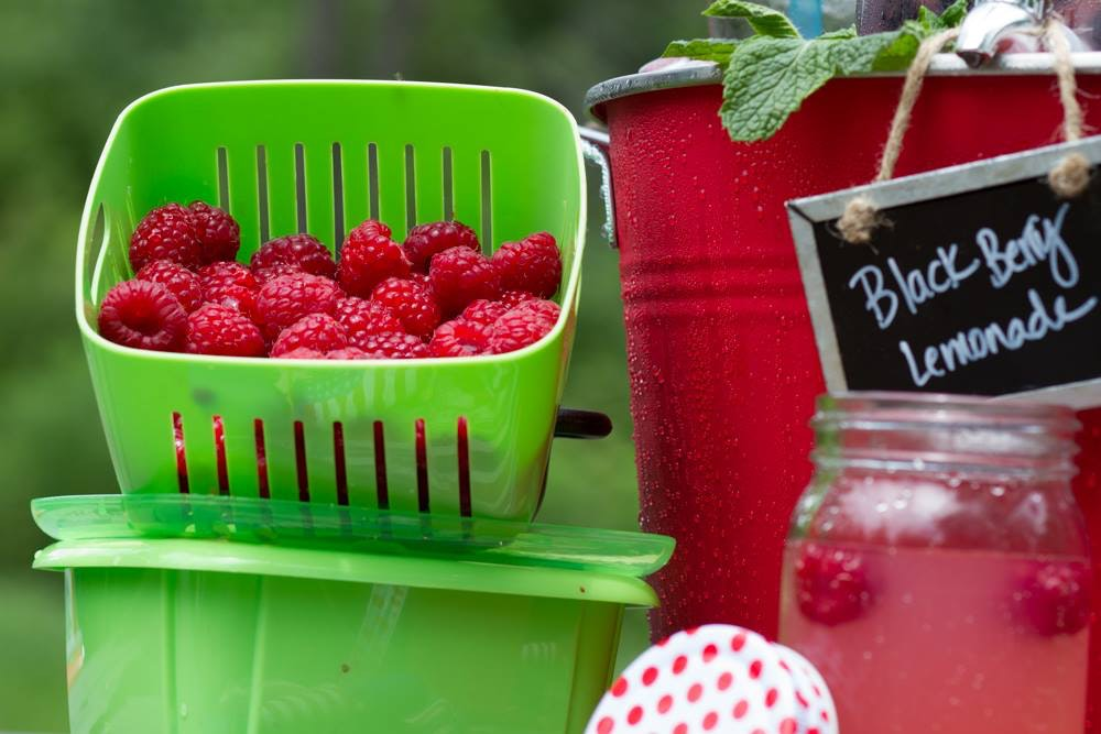 Blackberry-lemonade-with-raspberries