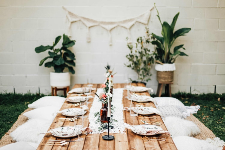 Backyard Dinner Party how to throw the best backyard boho dinner party | the inspired home