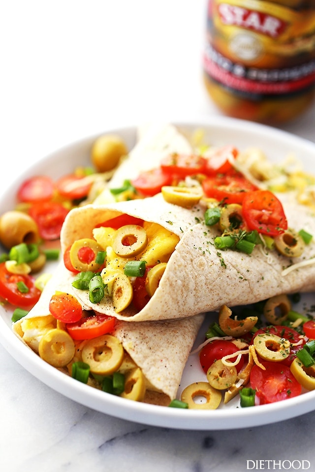 Breakfast Burritos With Star Olives