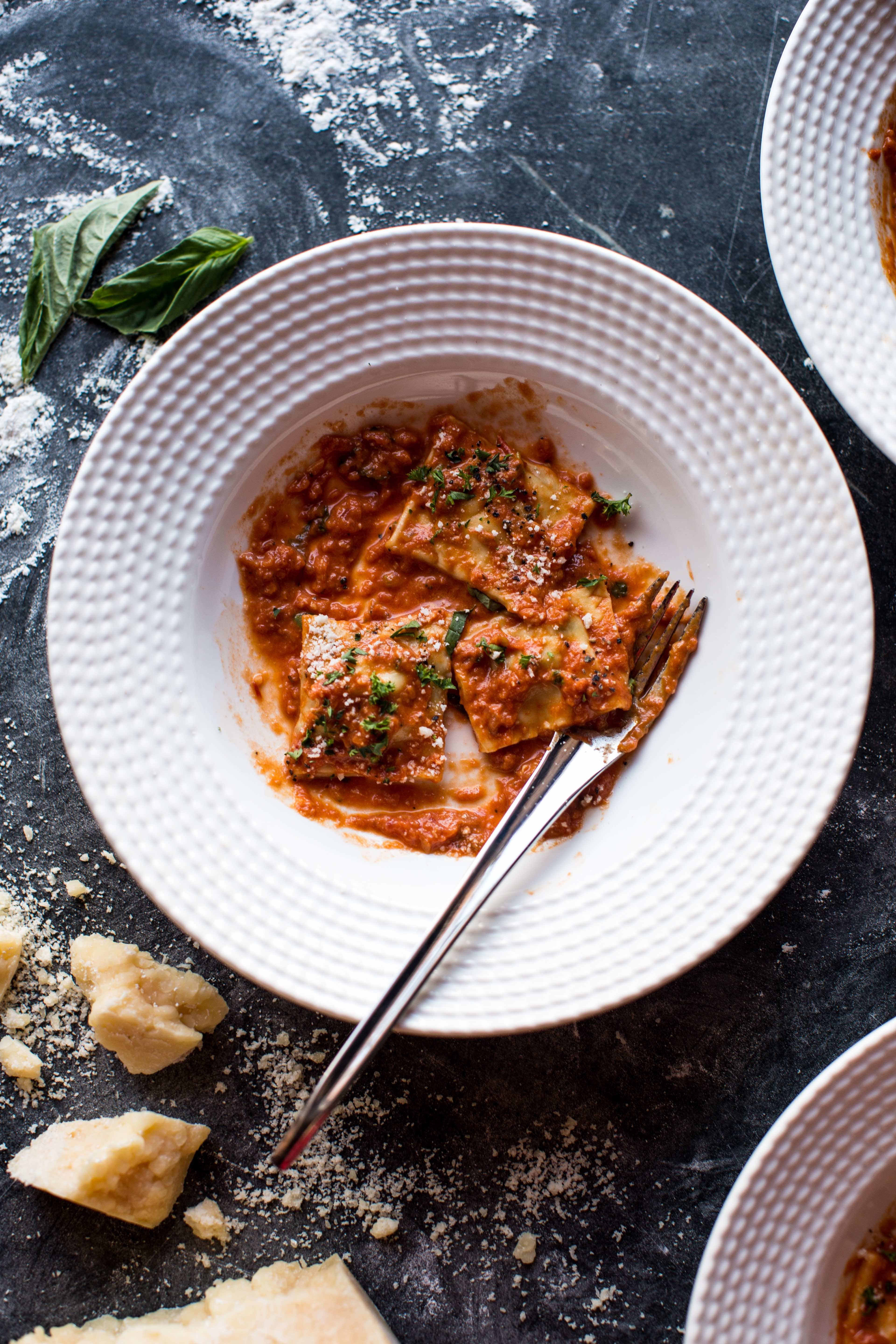 Brown Butter Lobster Ravioli With Tomato Cream Sauce 13 Resize
