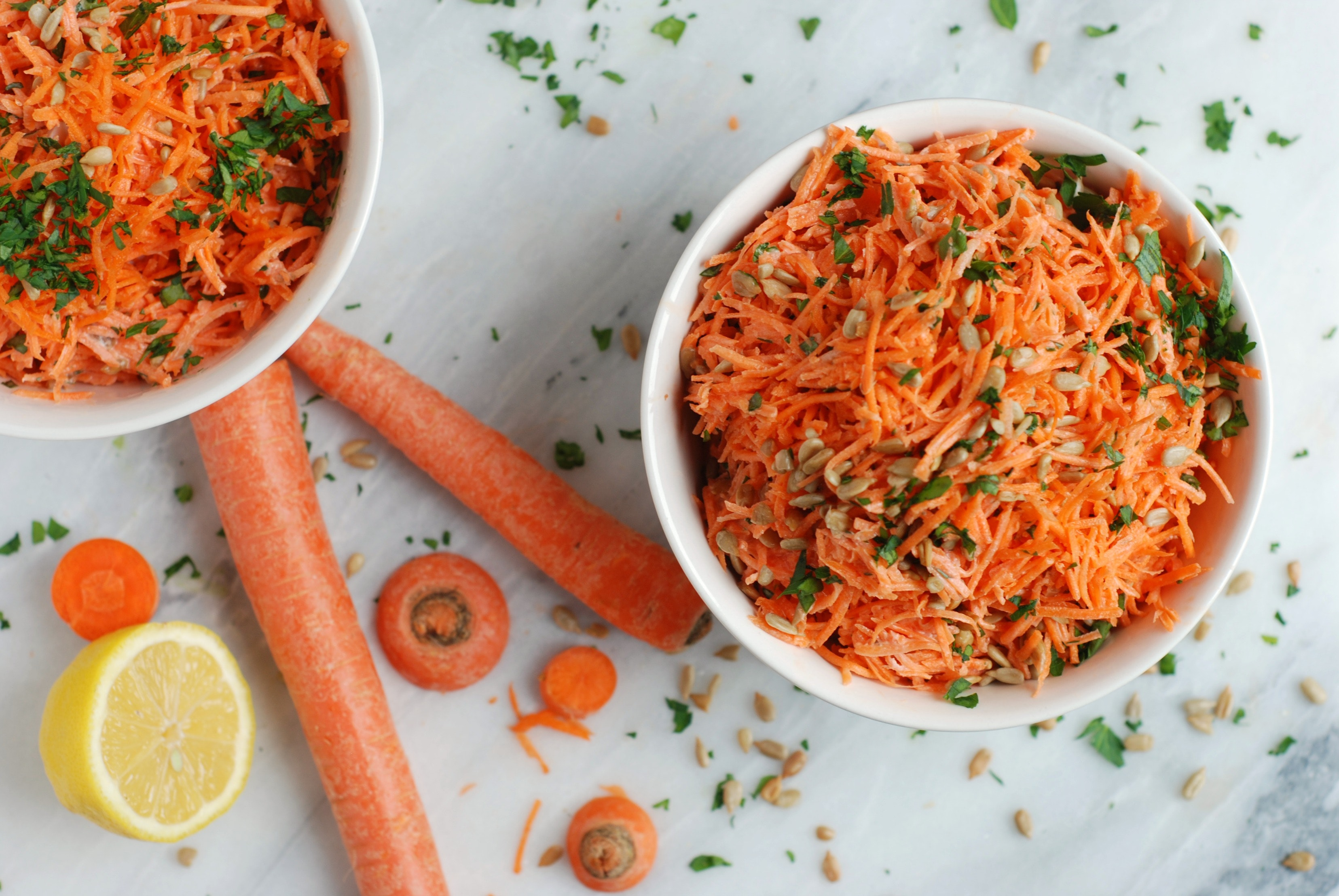 Simple Carrot Salad with Lemon Vinaigrette