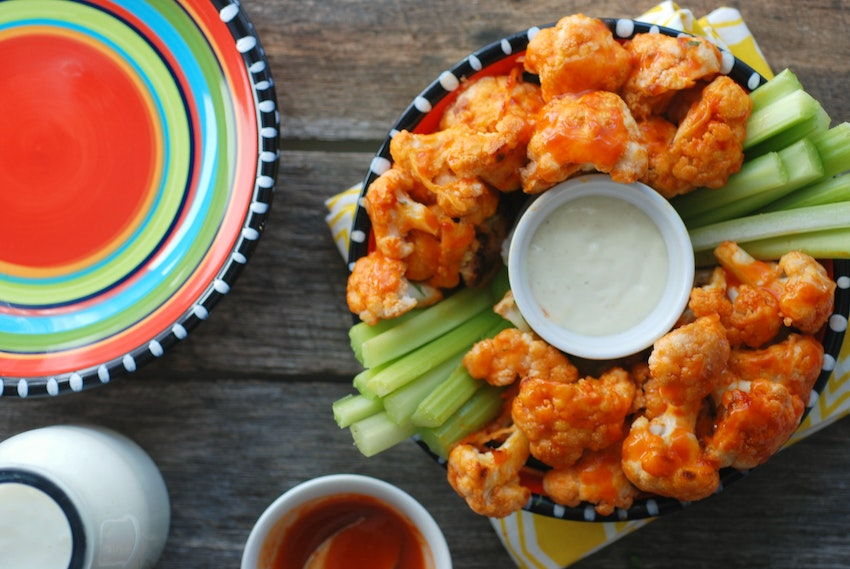 Buttermilk Cauliflower Wings with Honey Buffalo Sauce
