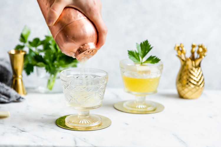 Savory Celery Root Cocktails