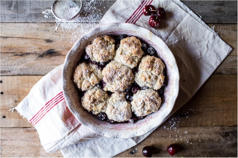 Cherry-Cobbler-with-Honey-Butter-Vanilla-Bean-Biscuits-3