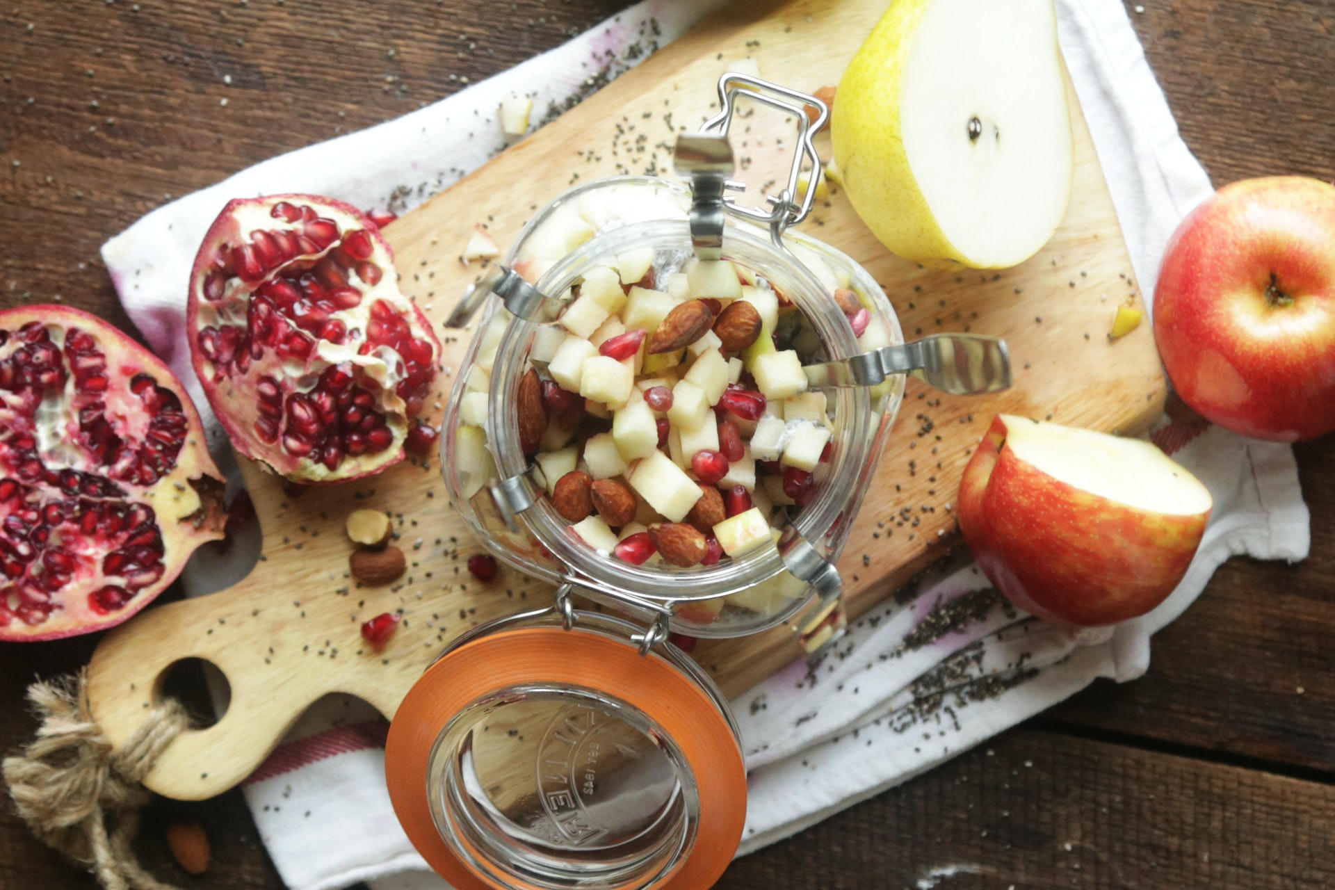 Chia Seed Pudding with Fruit & Nuts