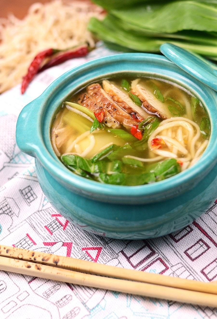 Chinese Noodle Soup Vertical Web