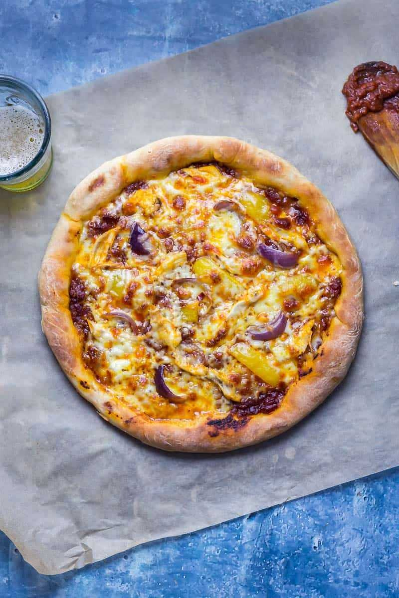 Chipotle Chicken Pizza 1