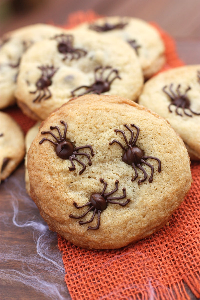 Chocolate Chip Spider Cookies4