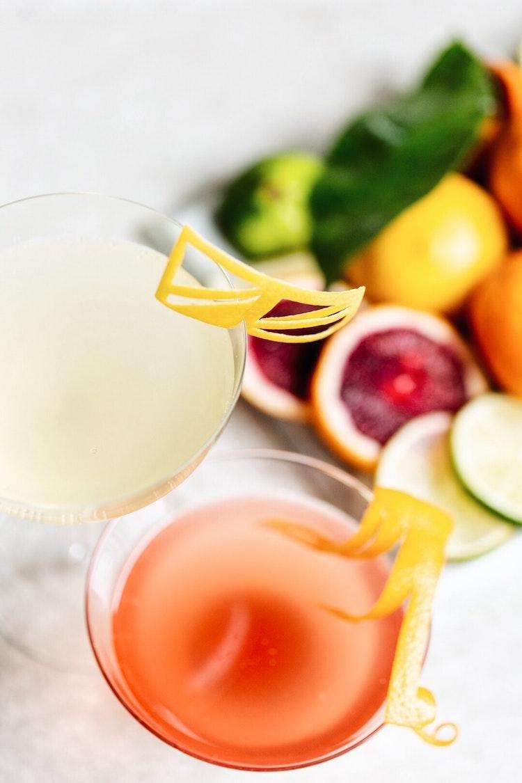 Winter Citrus Champagne Cordials