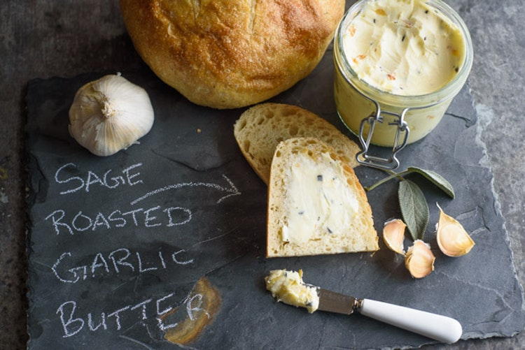 Sage Roasted Garlic Compound Butter Recipe