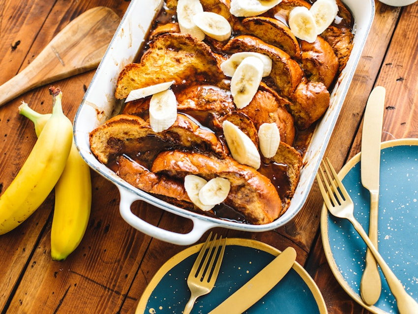 Cookie Butter French Toast Casserole