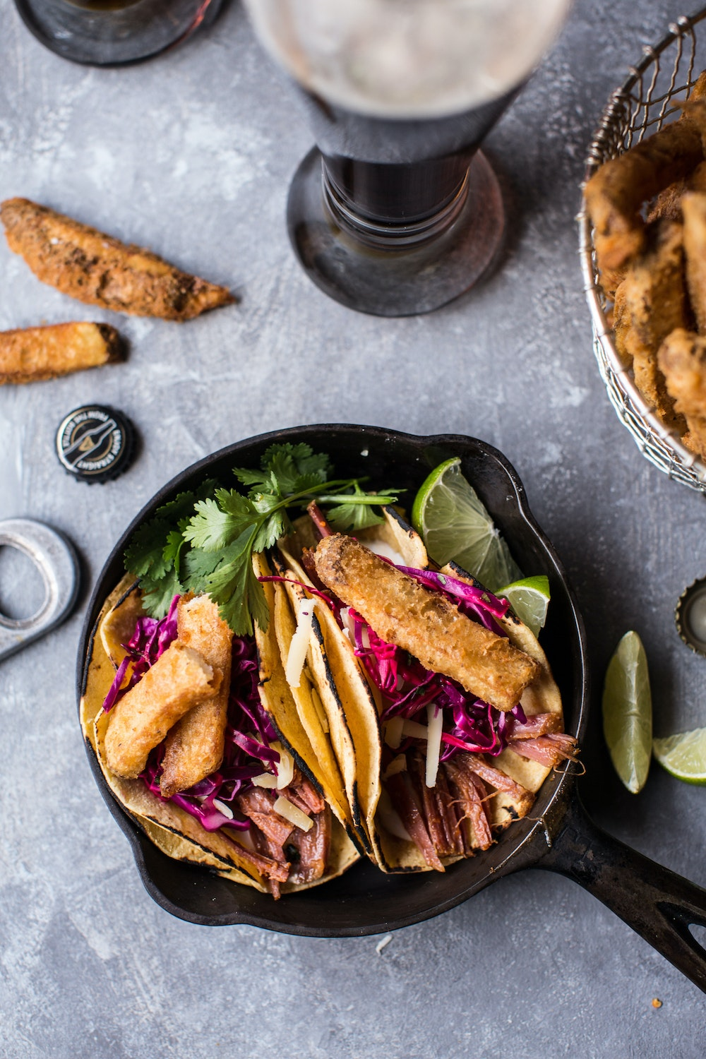 Corn-Beef-Tacos-with-Beer-Battered-Fries-7