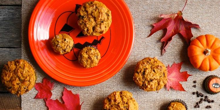 Whole Wheat Chocolate Chip Pumpkin Muffins Recipe