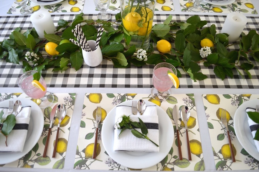 Set a Lemon-Infused Tablescape for Spring
