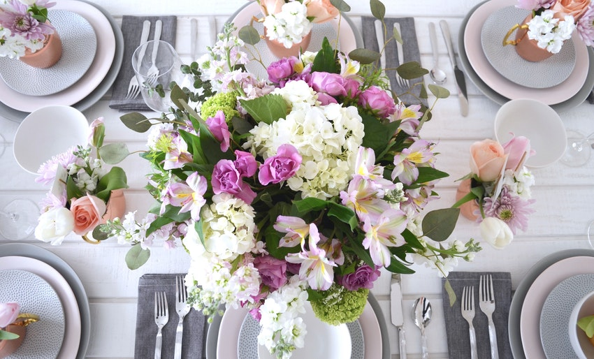 A Pretty in Pastel Mother's Day Table