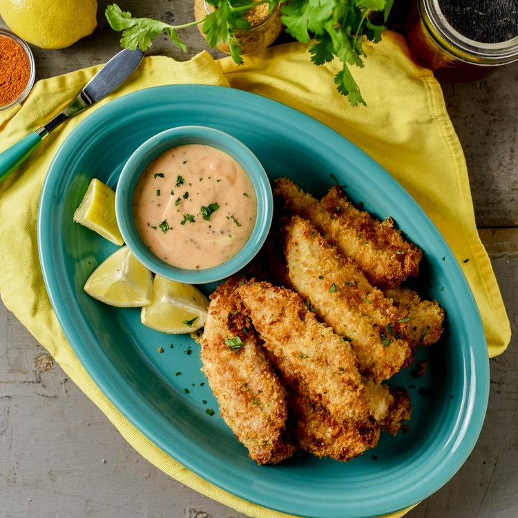 Air-Fried Chicken Tenders & Spicy Sweet Sauce Recipe