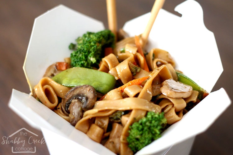 Easy Better Than Takeout Veggie Lo Mein Recipe The Shabby Creek Cottage