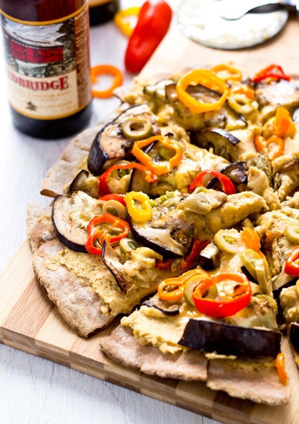Eggplant Hummus Pizza 03