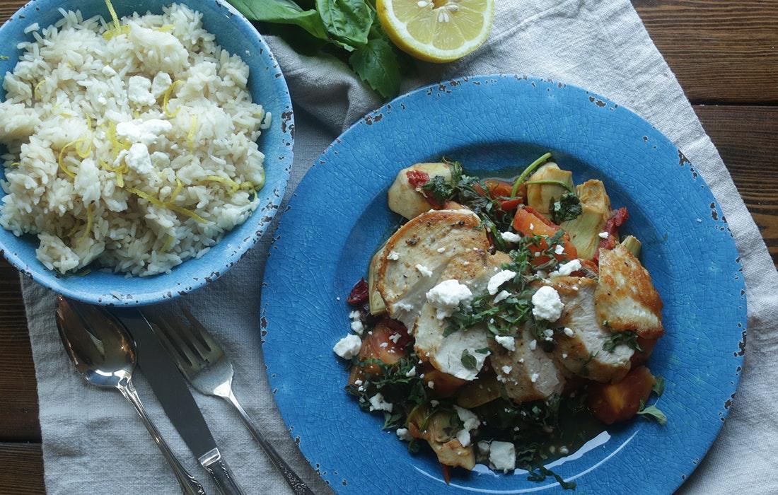 Mediterranean Chicken & Lemon Rice from Chef Billy Parisi