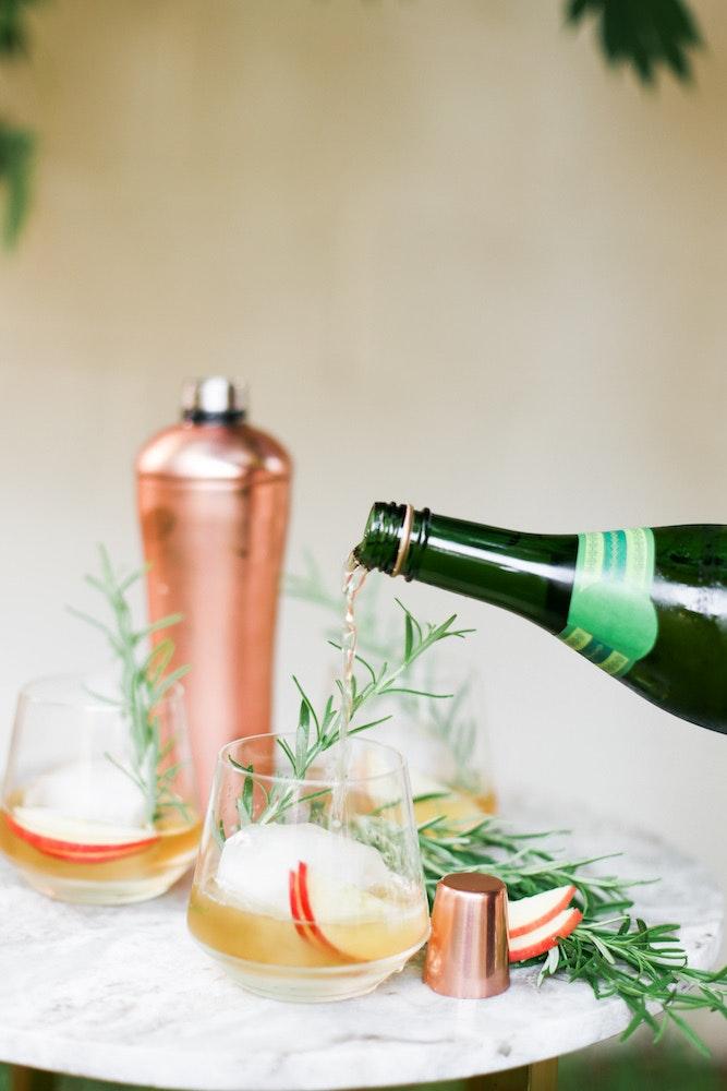 Apple Cider Whiskey Rose Cocktails