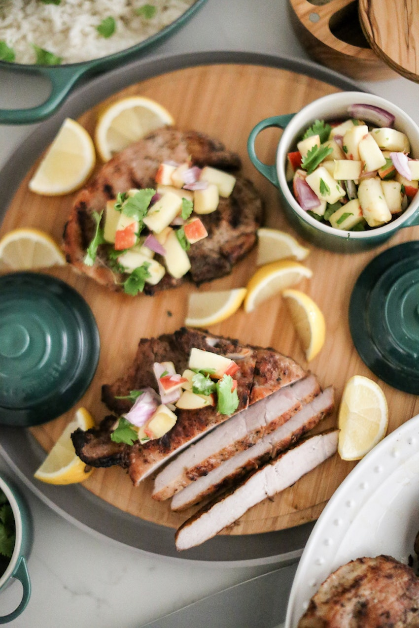 Keep Grilling Through Fall & Winter with These Grilled Pork Chops and Apple Salsa