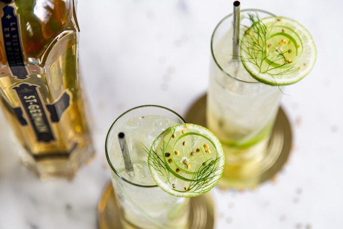 Fennel Elderflower Spritz Cocktails