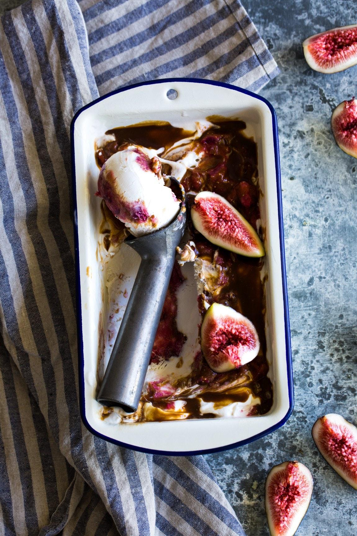 Fig Bourbon Caramel Ripple Cashew Ice Cream Vegan 6 Of 1