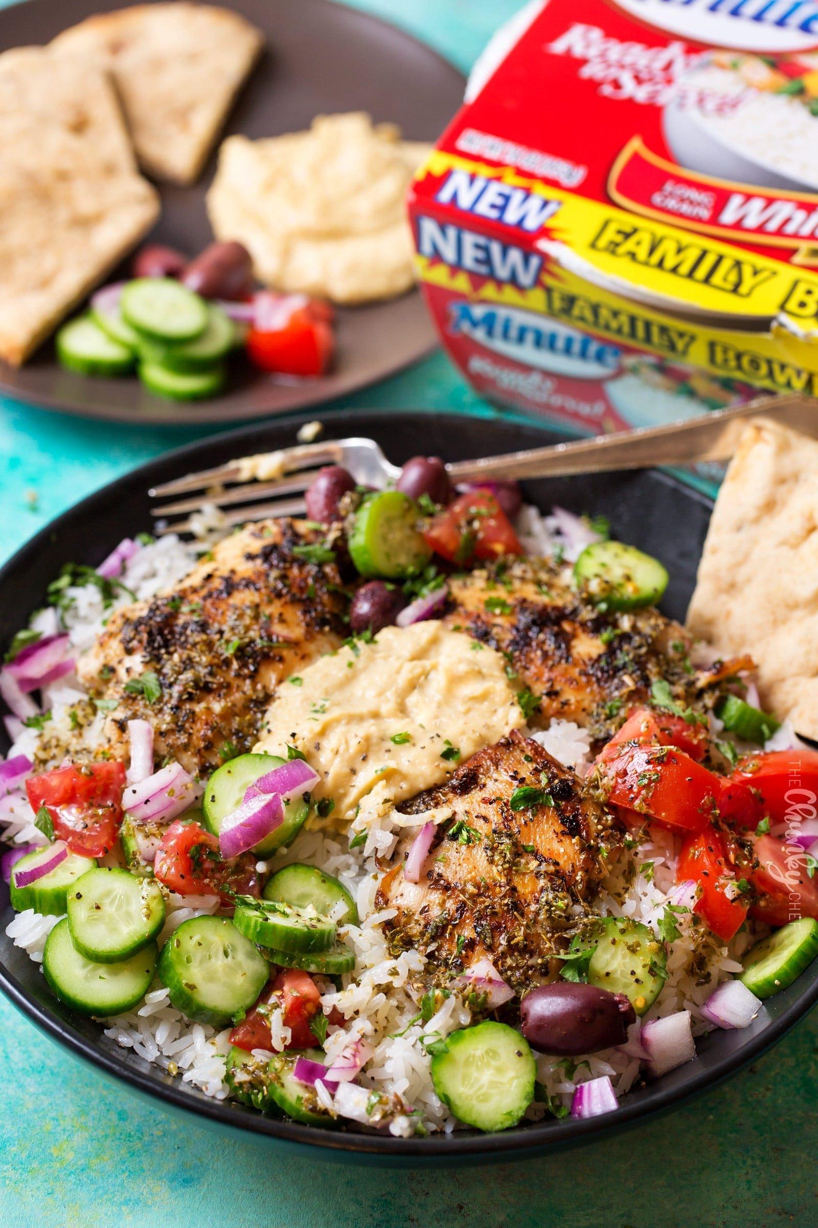 Greek Chicken Rice Bowl 8