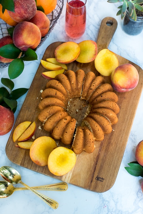 Grilled Peaches And Mascarpone Pound Cake 10