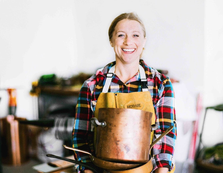 Meet the Woman Who Handcrafts Heirloom-Quality Copper Cookware