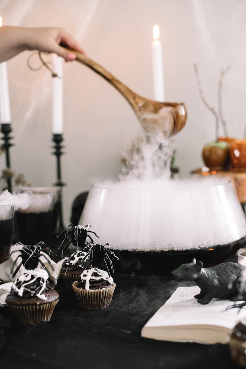 The Best, Spooky Halloween Buffet Set Up