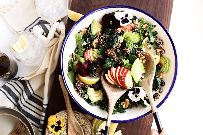 A Harvest Apple Quinoa Kale Salad To Kickstart A Healthy New Year