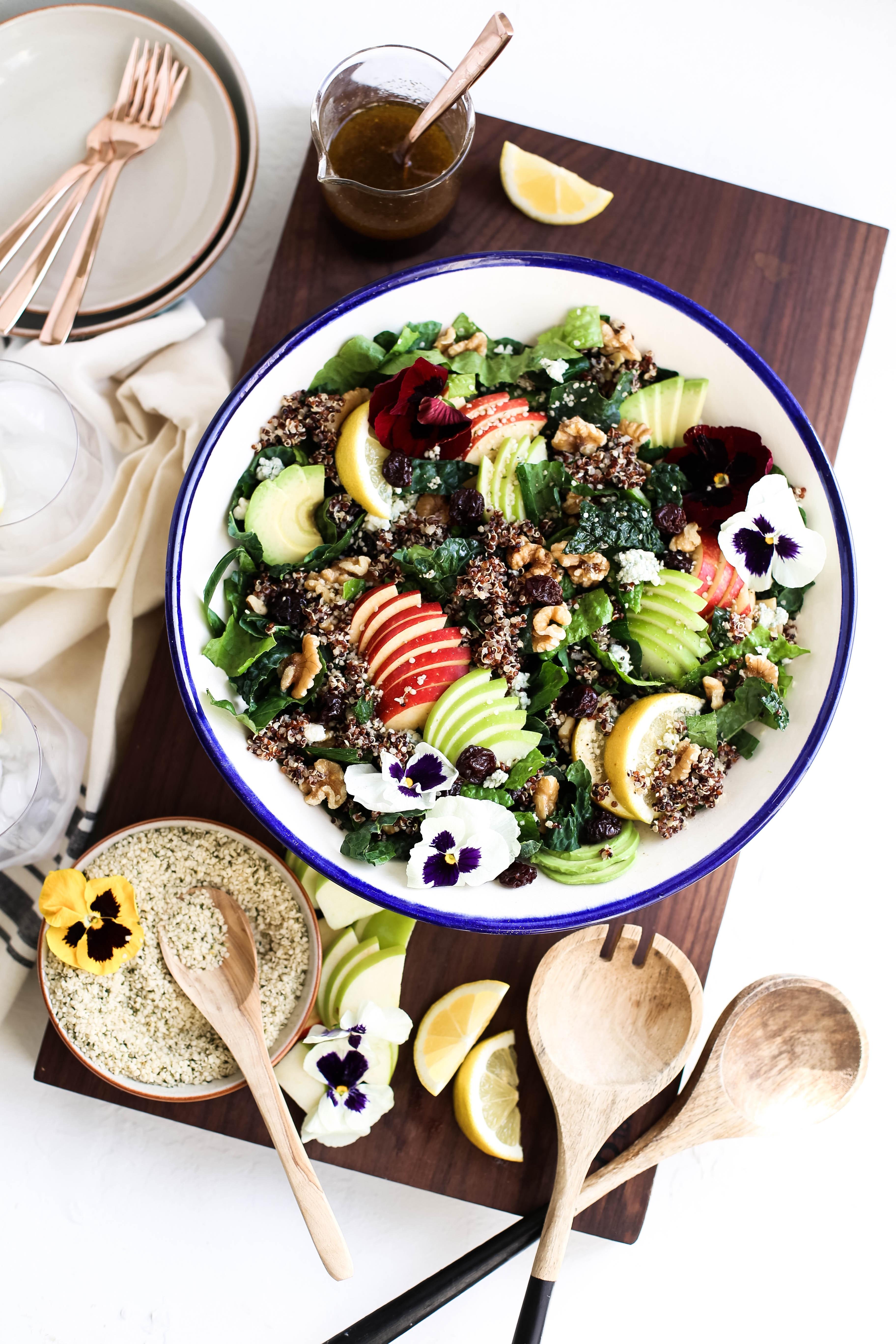Harvest Apple Quinoa Kale Salad 5