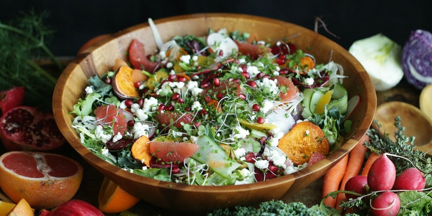 Winter Harvest Salad with Champagne, Lemon + Vanilla Vinaigrette