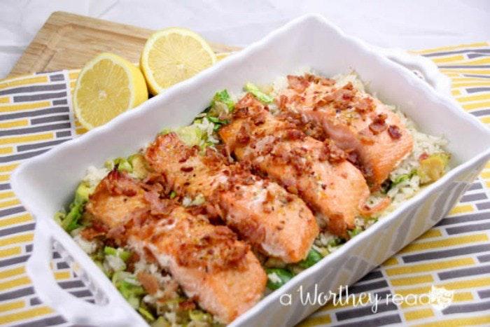 Herb Marinated Salmon Savory Rice 5