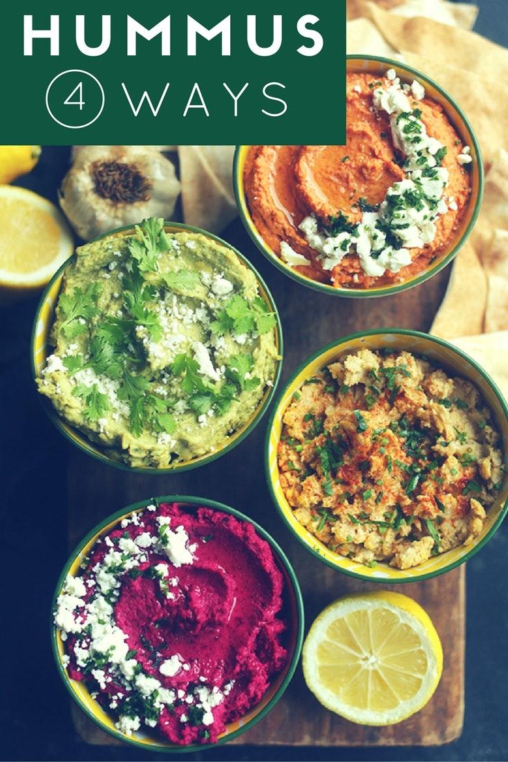 Hummus 4 Ways