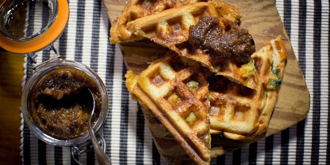 Waffle Maker Grilled Cheese 3 Ways